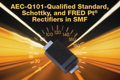 Vishay推出6款通过汽车电子标准认证的超薄、高性能整流器
