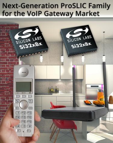 Silicon Labs新一代可编程ProSLIC芯片满足VoIP市场需求