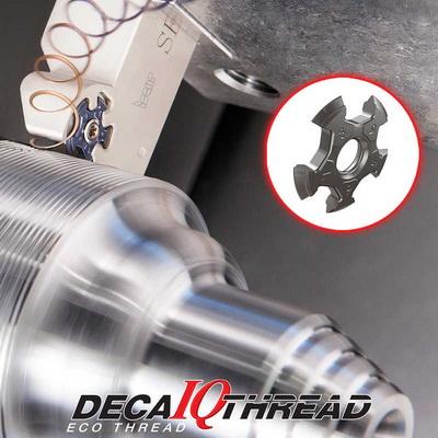 伊斯卡推出带10个切削刃的IQ五角双头螺纹刀DECA-IQ-THREAD
