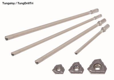 泰珂洛创新设计的可转位式枪钻TungDrillTri让深孔加工不再难