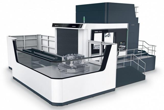 德马吉森精机DMC 270 U可对重达9吨的大型工件进行高效加工