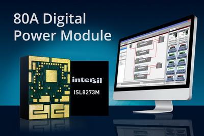 Intersil推出首款密封式80A数字电源模块ISL8273M