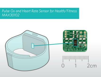 脉搏血氧及心率监测集成传感器模组,为可穿戴健康和保健应用提供超低功耗方案