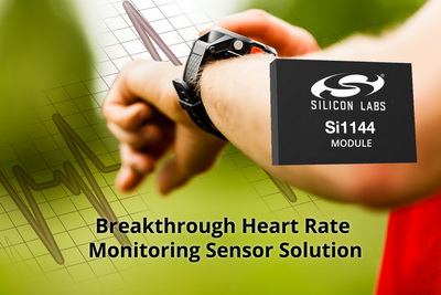 Silicon Labs推出突破性心率监测传感器解决方案