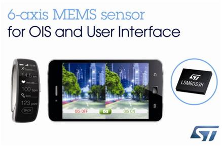 大联大友尚集团推出先进的ST新款动作传感器,大幅提升便携电子设备的影像稳定性能