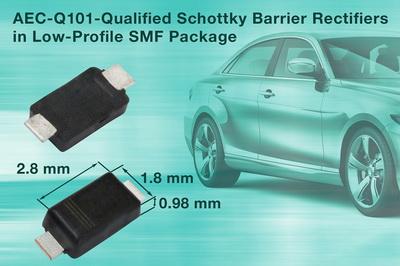 Vishay新款SMD肖特基势垒整流器可为汽车和商业应用节省宝贵空间
