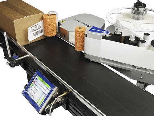 伟迪捷Videojet 9550拐角贴标机可提高需要在货箱两侧贴标应用的产量 满足在货箱两侧贴标的要求