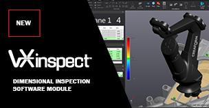 CREAFORM 推出的新版 VXINSPECT 可与其 3D 扫描仪和便携式探测系统完美集成,实现更加快速的零部件测量