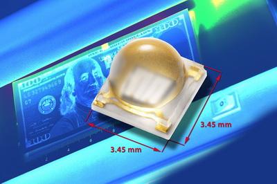 Vishay新款带硅树脂透镜陶瓷基底高功率UV LED具有超长使用寿命