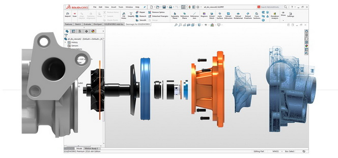 3D Systems公司最新推出的Geomagic for SOLIDWORKS软件使扫描数据到SolidWorks更容易
