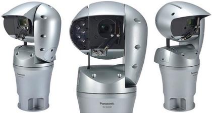 松下推出抗风雨及盐碱的监控摄像头Aero PTZ Camera WV-SUD638