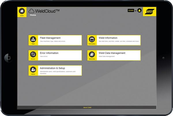 WELDCLOUD™联网数据管理平台强大功能促进焊接工艺持续改进
