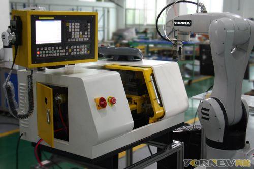 FMS机器人数控车床工作站