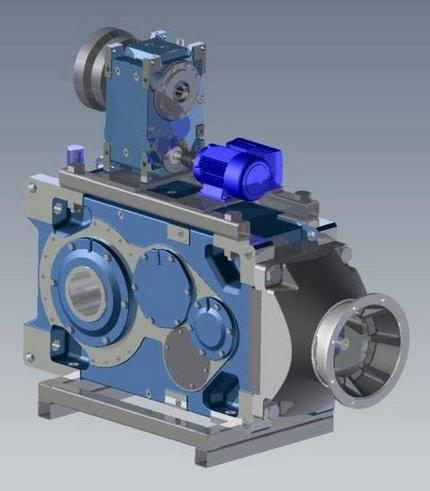 诺德推出带挤出机推力包法兰的工业齿轮箱