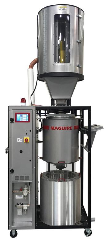 动态节能软件持续调节真空树脂干燥机以确保实现最低能耗