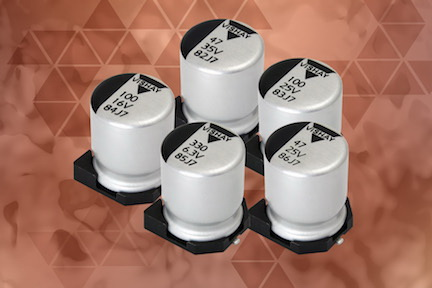 Vishay新款导电和混合导电铝聚合物电容器可节省PCB空间及降低成本