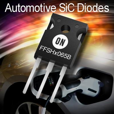 安森美半导体发布碳化硅(SiC)二极管用于要求严苛的汽车应用