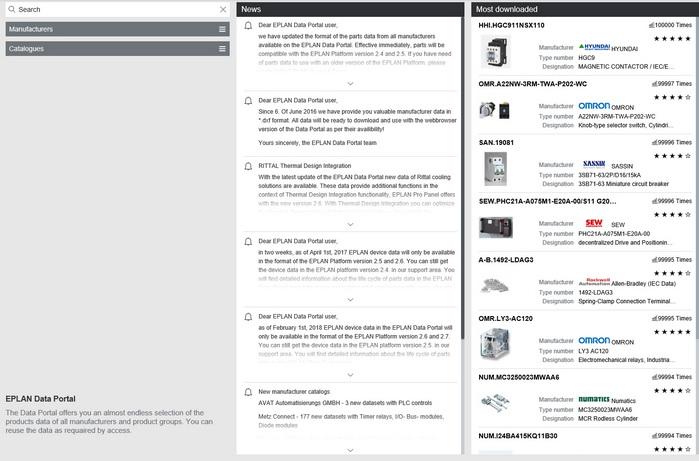 EPLAN Data Portal部件数据库:检测设备数据的理想途径