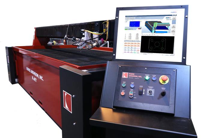Koike Aronson 和 NUM 合作生产用于备受 赞誉的 K-Jet 水刀系统的精密 5 轴斜齿头