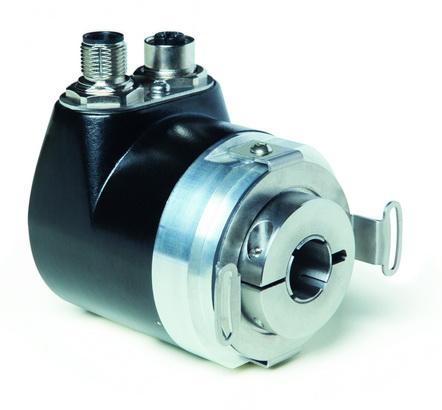 绝对值安全旋转编码器WH58MR - 使用空心轴在商用车上进行可靠的位置测量