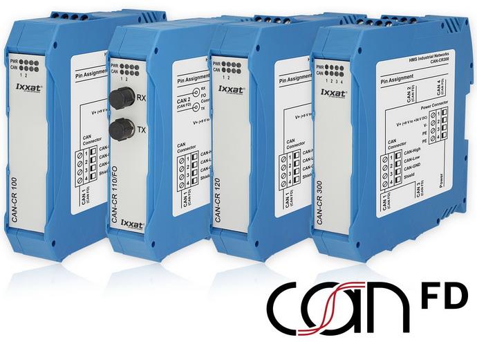 可用于CAN FD和CAN的新型Ixxat中继器系列