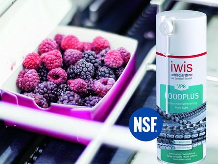 iwis VP8 FoodPlus Spray - 食品工业应用中的链条润滑剂