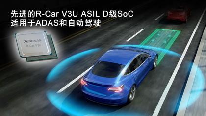 瑞萨电子加速ADAS和自动驾驶技术开发 推出先进的R-Car V3U ASIL D级片上系统