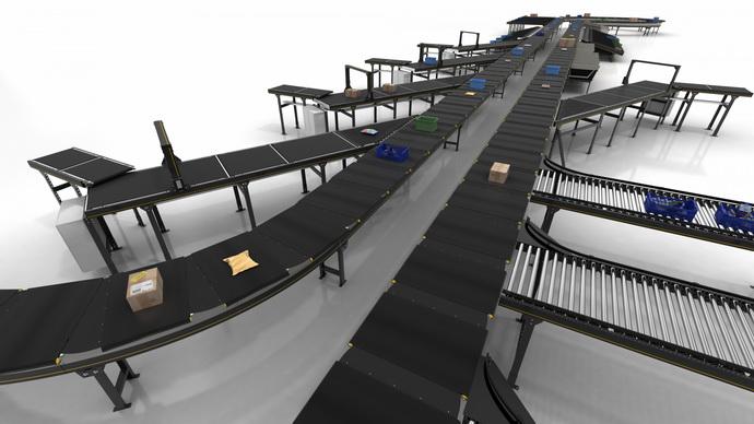 英特诺推出高性能交叉带式分拣机MX 025H 每小时最多可处理20,000件货物的运输