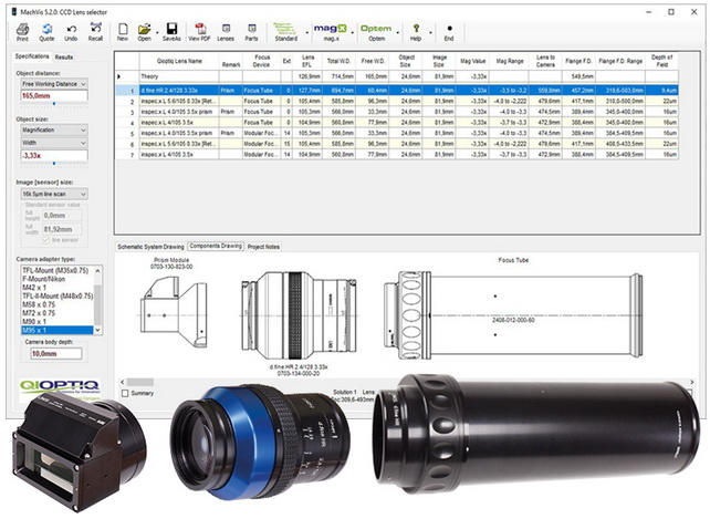 Excelitas Technologies发布增强型MachVis成像镜头软件