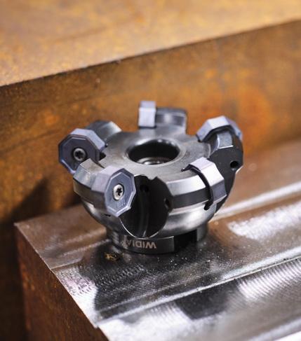 威迪亚推出M1600端面铣刀,广泛适用于各种机床和工况条件